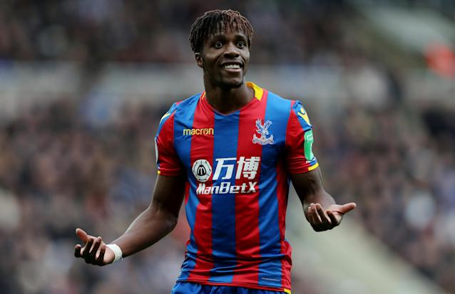 """Roy Hodgson defended his decision to substitute Wilfried Zaha while his side was still level with Newcastle: """"Ruben can cause a threat coming from deep and we thought it might be a good idea to give Wilf a rest and get fresh legs on."""""""