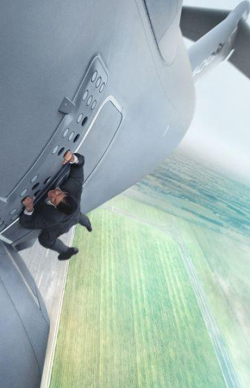 Tom Cruise during the plane stunt in M:I5. Photo: Paramount Pictures