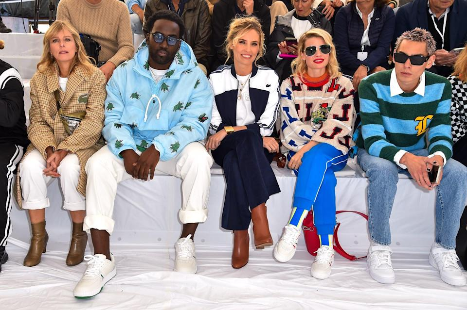 <p>He could be spotted next to actors Shamier Anderson, Lilou Fogli, and Mélanie Thierry in the front row.</p>