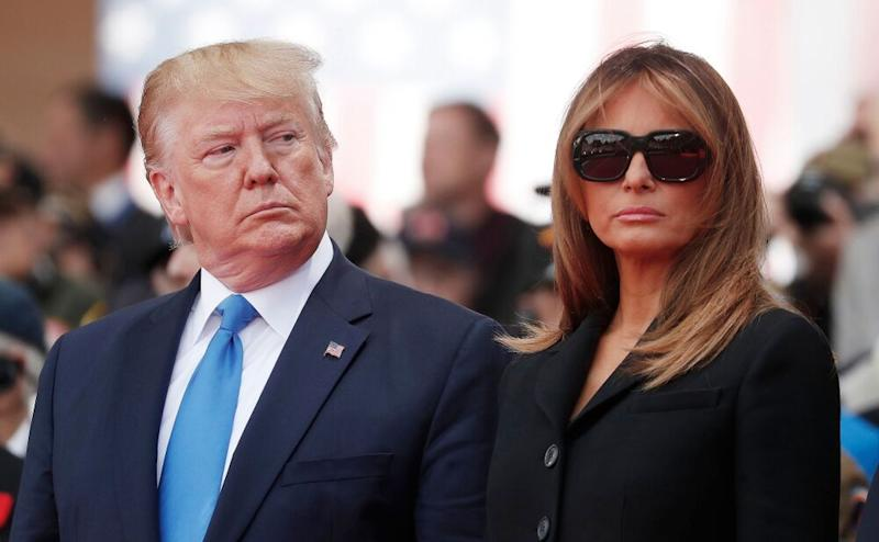President Donald Trump and First Lady Melania Trump in France together in June 2019. | IAN LANGSDON/POOL/EPA-EFE/Shutterstock