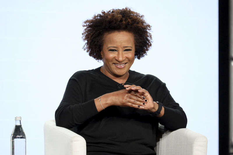 "Wanda Sykes speaks at the ""Visible: Out on Television"" panel during the Apple+ TCA 2020 Winter Press Tour at the Langham Huntington, Sunday, Jan. 19, 2020, in Pasadena, Calif. (Photo by Willy Sanjuan/Invision/AP)"