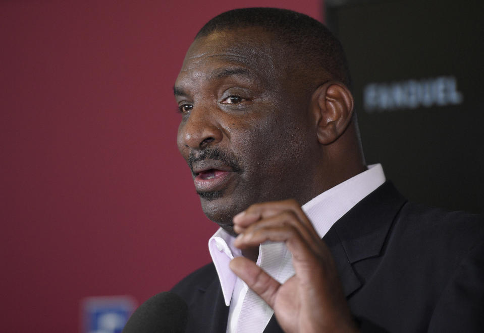 Washington Redskins executive Doug Williams co-founded the Black College Football Hall of Fame, which partners with the NFL to host the annual NFL Quarterback Coaching Summit. (AP Photo/Nick Wass)