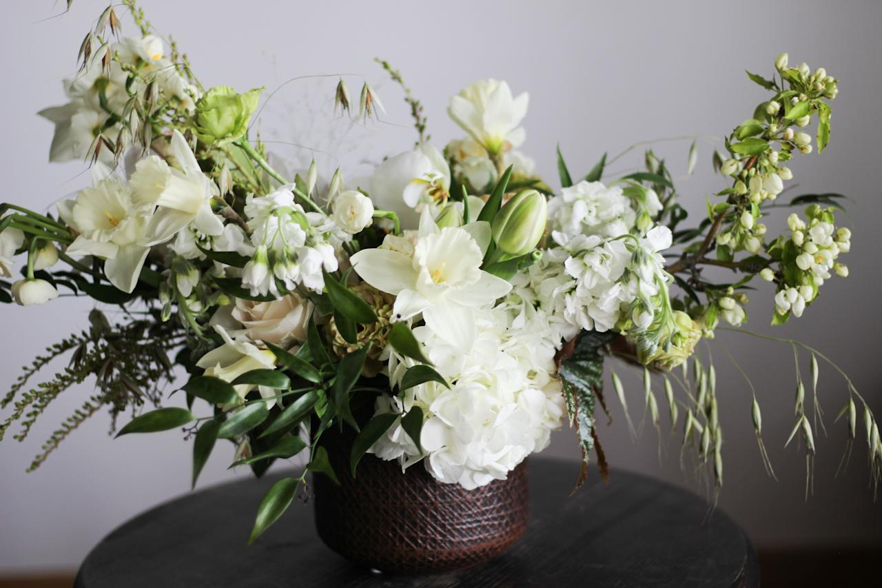 <p>When beautifully and creatively arranged, monochromatic flower arrangements make quite the statement. Here, floral designers show us how to master the art of white blooms through every season.  </p>
