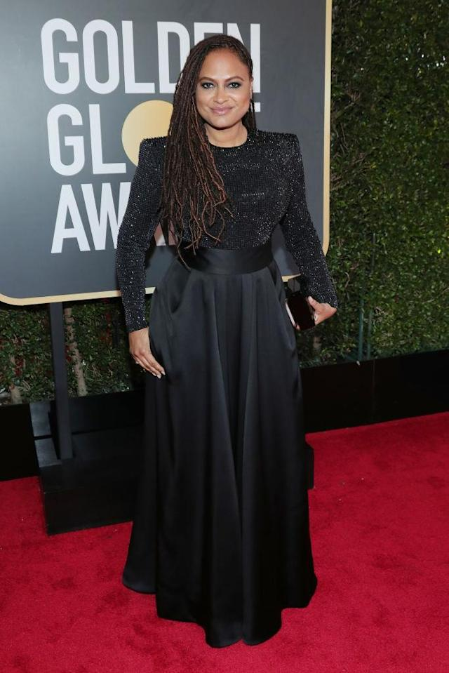 <p>The director of the upcoming movie <em>A Wrinkle in Time</em> attends the 75th Annual Golden Globe Awards at the Beverly Hilton Hotel in Beverly Hills, Calif., on Jan. 7, 2018. (Photo: Steve Granitz/WireImage) </p>