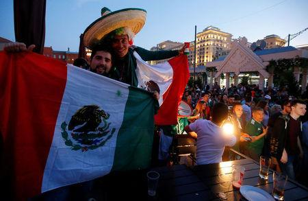 Soccer Football - World Cup - Group F - Germany vs Mexico - Moscow, Russia - June 17, 2018 Mexico's fans celebrate victory of their team after the match. REUTERS/Sergei Karpukhin