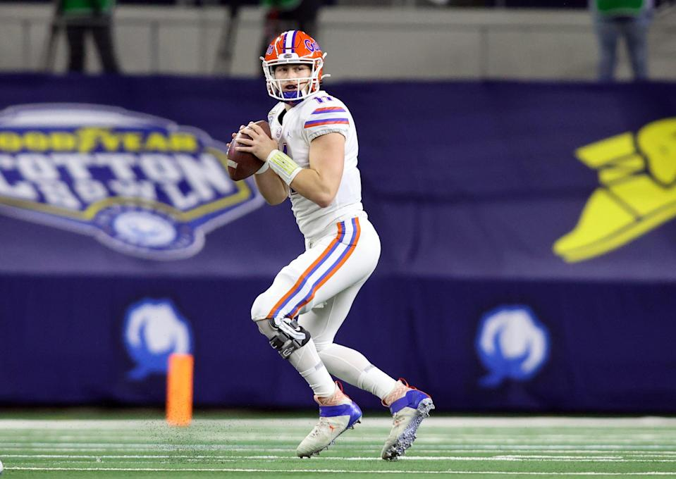 Quarterback Kyle Trask threw for 69 touchdowns at Florida.