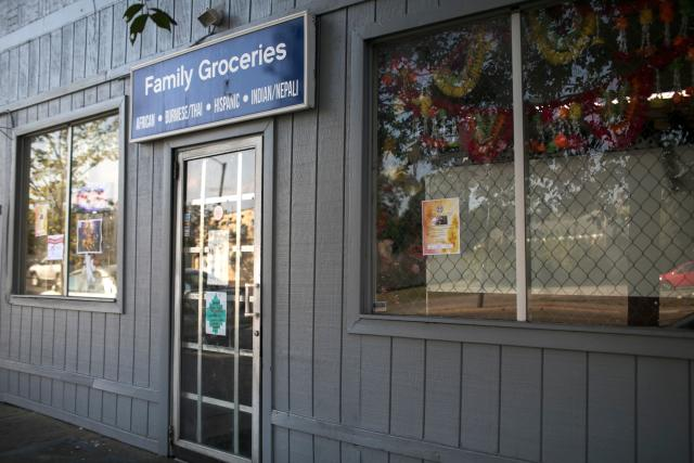 Family Groceries in Akron, Ohio.