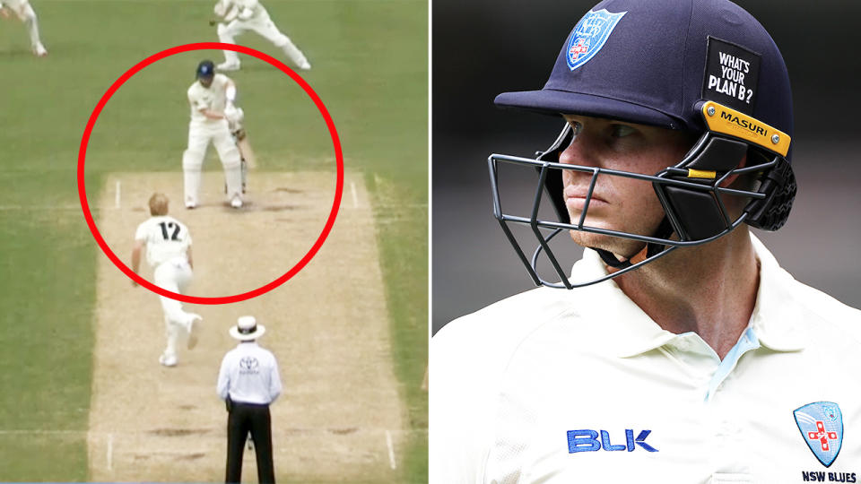 Steve Smith, pictured here in action for NSW in the Sheffield Shield.