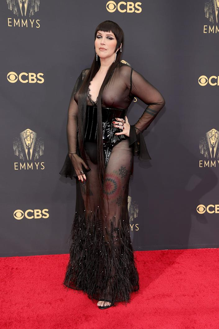 Our Lady J attends the 2021 Emmy Awards.