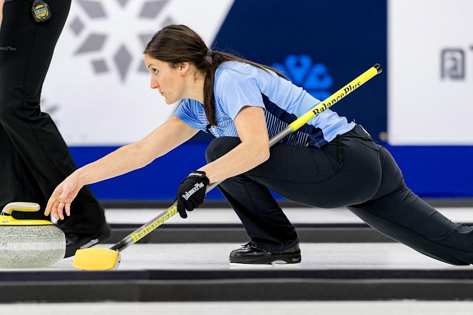 """<p>At the Olympics, members of the USA curling team will only tackle one or two games per day, but during regular season competitions, they might have three, with little break in between. Peterson makes sure to hydrate and down whey protein drinks before and after workouts to keep her energy up. For her, the thing thats hard to stay away from during training is candy. """"I have a big sweet tooth for fruity candies like Starburst and Skittles,"""" she says.</p>"""