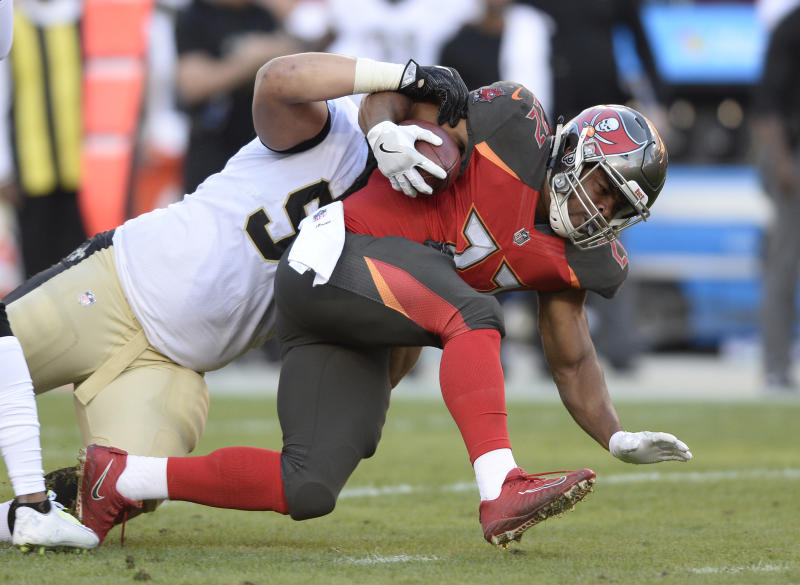 Tampa Bay Buccaneers running back Doug Martin was cut by the team on Tuesday. (AP)