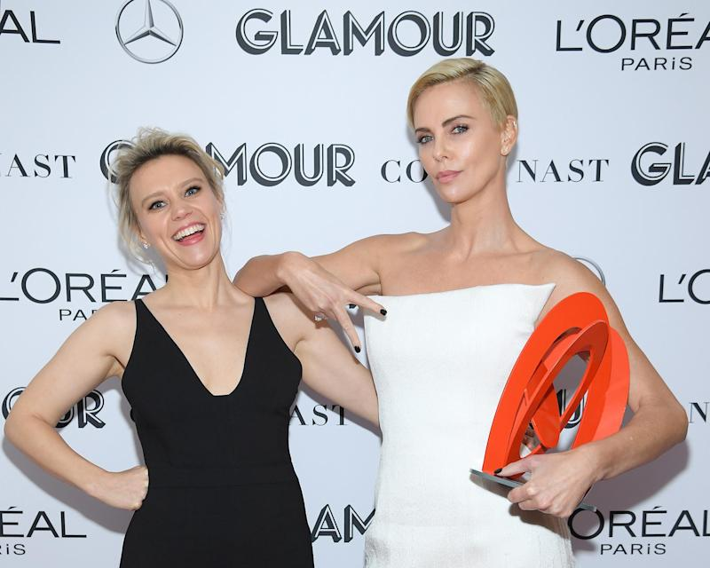 Kate McKinnon and Charlize Theron (Dimitrios Kambouris/Getty Images for Glamour)