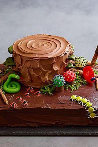 """<p>You can decorate this haunted forest cake with creepy crawlers made from gummy candy and M&Ms.</p><p><a href=""""https://www.womansday.com/food-recipes/food-drinks/recipes/a11415/chocolate-haunted-forest-cake-recipe-wdy1013/"""" rel=""""nofollow noopener"""" target=""""_blank"""" data-ylk=""""slk:Get the Chocolate Haunted Forest Cake recipe."""" class=""""link rapid-noclick-resp""""><strong><em>Get the Chocolate Haunted Forest Cake recipe. </em></strong> </a></p>"""