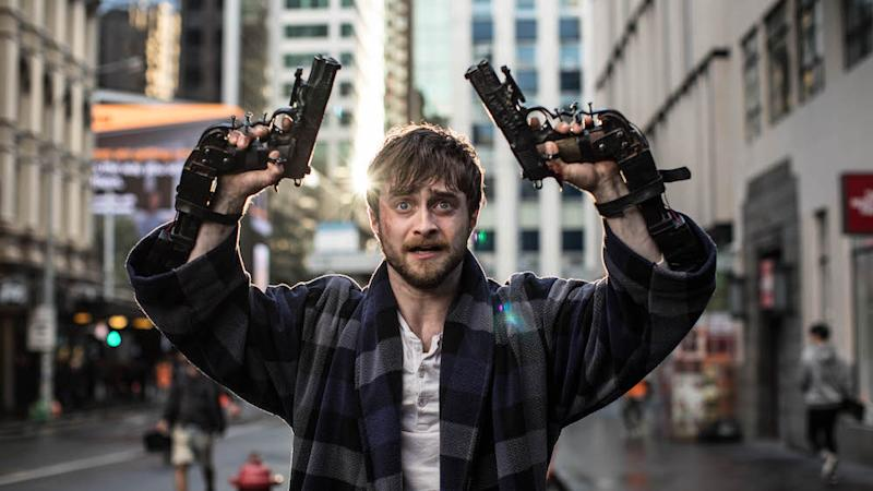 Daniel Radcliffe as Miles in Guns Akimbo. (PHOTO: Golden Village Pictures)