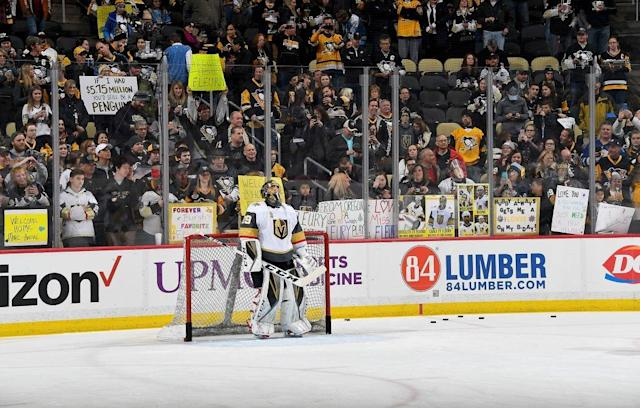 All signs point to Fleury being a damn legend in Pittsburgh. (Getty)