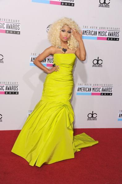 Nicki Minaj arrives on the 2012 American Music Awards red carpet.