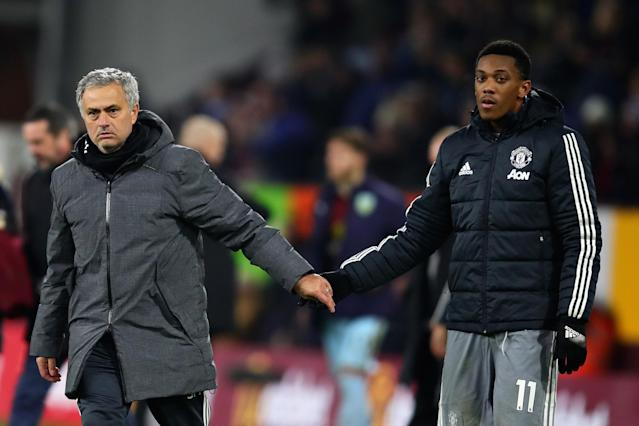 Mourinho has moved Martial out left to accommodate Alexis Sanchez