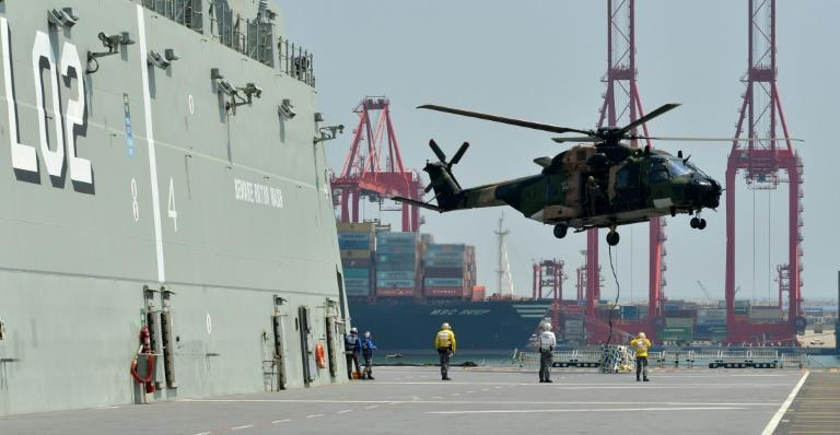 The Royal Australian Navy also took part in a training excercise in the Sri Lankan capital Colombo last year