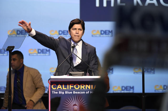 U.S. Senate candidate Kevin de León. (Photo: Denis Poroy/AP)