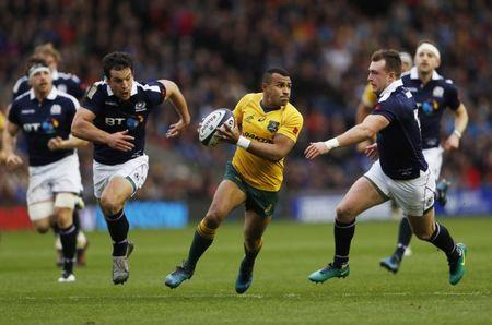 Britain Rugby Union - Scotland v Australia - Murrayfield, Edinburgh, Scotland - 12/11/16 Will Genia of Australia in action Action Images via Reuters / Lee Smith Livepic