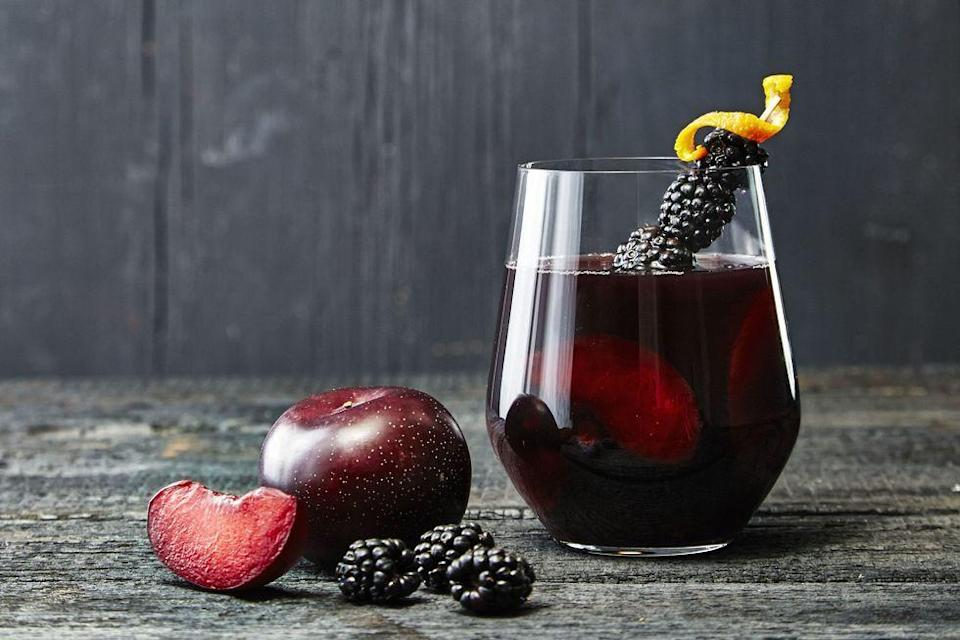 """<p>Double, double, toil and trouble — you can make this witch's brew with any dark fruit juice of your choice. This way, you can customize your Halloween drinks just to your tastes. </p><p><strong>RELATED:</strong> <a href=""""https://www.goodhousekeeping.com/holidays/halloween-ideas/g3718/best-halloween-cocktails/"""" rel=""""nofollow noopener"""" target=""""_blank"""" data-ylk=""""slk:40+ Creative Halloween Drinks and Cocktails That'll Get the Party Started"""" class=""""link rapid-noclick-resp"""">40+ Creative Halloween Drinks and Cocktails That'll Get the Party Started</a></p>"""