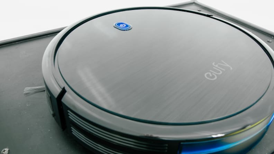 The Eufy 11S stays quiet so you can still enjoy the conversation over dinner or watching a movie as your robot vacuum gets to work.
