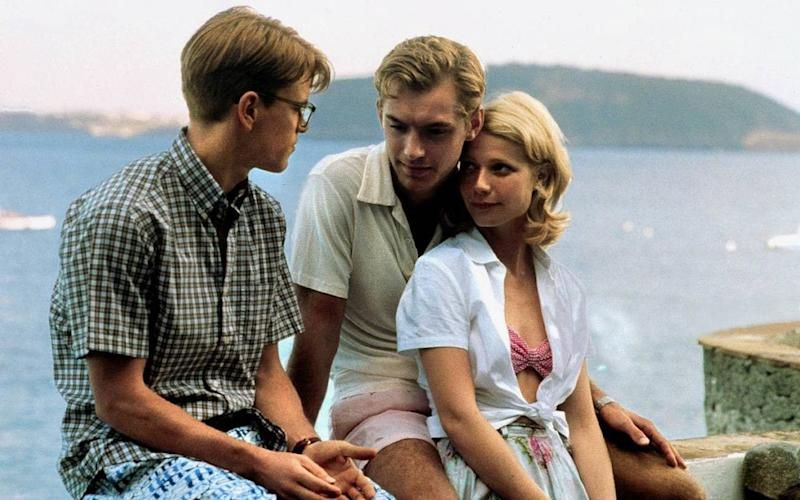 Take inspiration from preppy Matt Damon and Jude Law in The Talented Mr. Ripley, 1999.  - Alamy