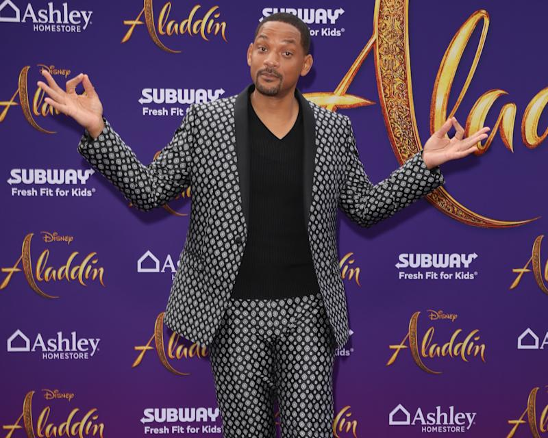"LOS ANGELES, CALIFORNIA - MAY 21: Actor Will Smith attends the premiere of Disney's ""Aladdin"" on May 21, 2019 in Los Angeles, California. (Photo by Paul Archuleta/FilmMagic )"