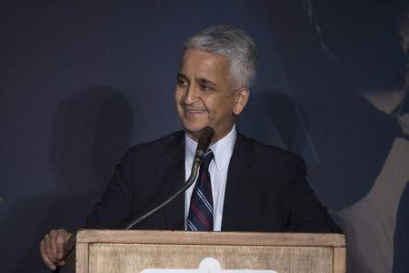 March 24, 2017; San Jose, CA, USA; United States Soccer Federation president Sunil Gulati speaks during the National Soccer Hall of Fame Class of 2016 Induction ceremony before the Men's World Cup Soccer Qualifier at Avaya Stadium. Mandatory Credit: Kyle Terada-USA TODAY Sports