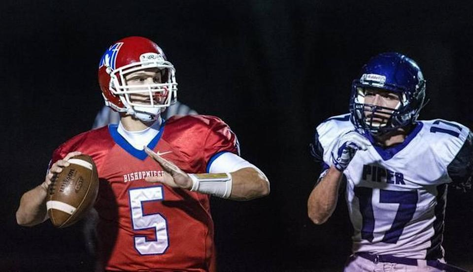 Bishop Miege quarterback Ryan Willis (left), the No. 3 recruit in Kansas according to Rivals.com, signed a letter of intent on Wednesday with Kansas.