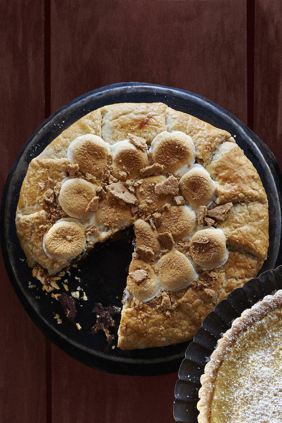"<p>S'mores in pie form? Sign us up!</p><p><strong><a href=""https://www.countryliving.com/food-drinks/recipes/a36546/smores-galette/"" rel=""nofollow noopener"" target=""_blank"" data-ylk=""slk:Get the recipe."" class=""link rapid-noclick-resp"">Get the recipe.</a></strong></p>"