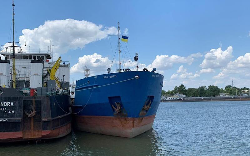 Authorities said the tanker was used in a Russian operation to block Ukrainian vessels from sailing through the Kerch Strait in November - REUTERS
