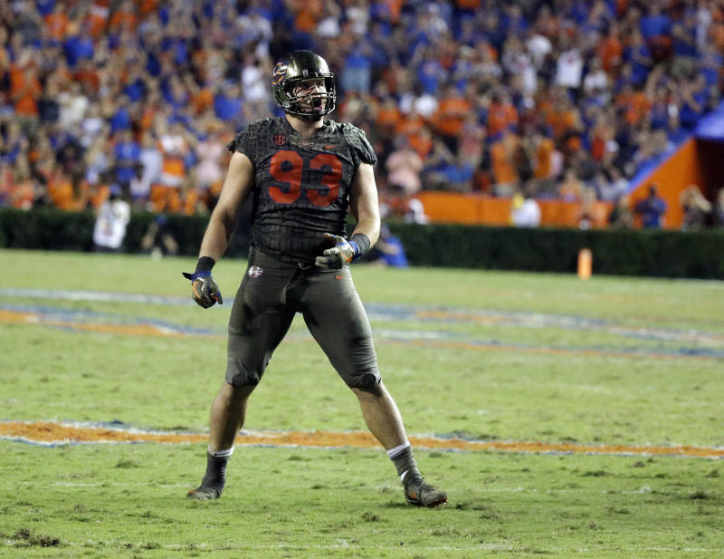 Bryan's stats are not as overwhelming as his weight room numbers – he had only 5.5 sacks at Florida, making it fair to ask if he's more of an athlete than a football player. (Getty Images)