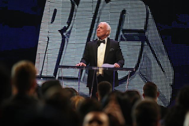 Ric Flair is the only two-time inductee into the WWE Hall of Fame. (AP)