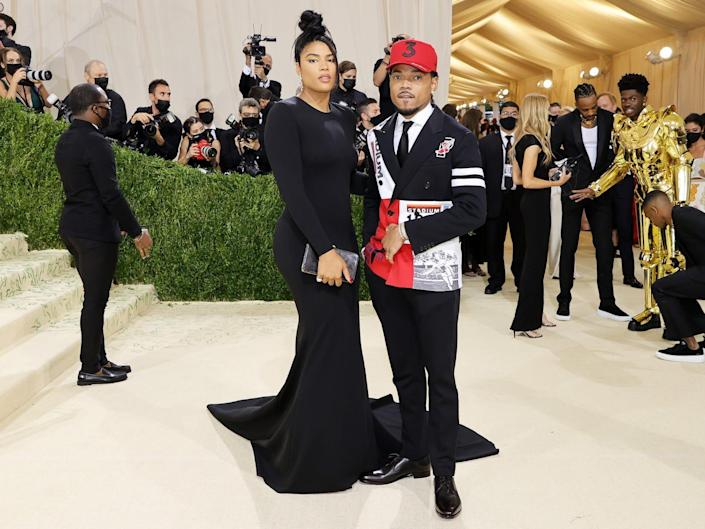 Chance the Rapper and Kirsten Corley at the 2021 Met Gala.