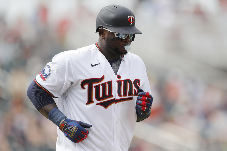Miguel Sano #22 of the Minnesota Twins in action against the Philadelphia Phillies