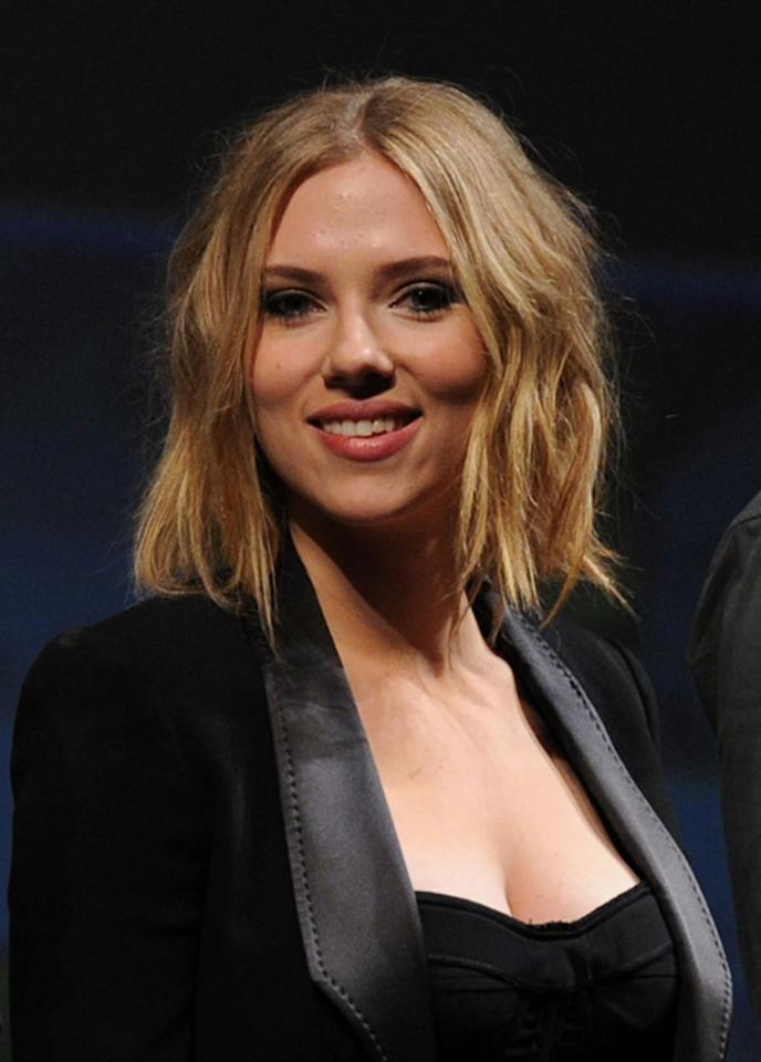 "At Comic-Con this past summer, Scarlett Johansson revealed a messy bob that recalled Christina Applegate's ""Samantha Who?"" haircut. Since then, she's gone a bit shorter, debuting a Keira Knightley-esque crop this week in Madrid while promoting the Spanish retail store Mango. Kevin Winter/<a href=""http://www.gettyimages.com/"" target=""new"">GettyImages.com</a> - July 24, 2010"