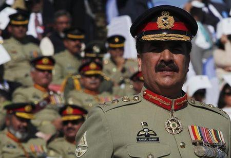 Pakistan's newly appointed army chief General Raheel Sharif attends the change of command ceremony with outgoing army chief General Ashfaq Kayani in Rawalpindi