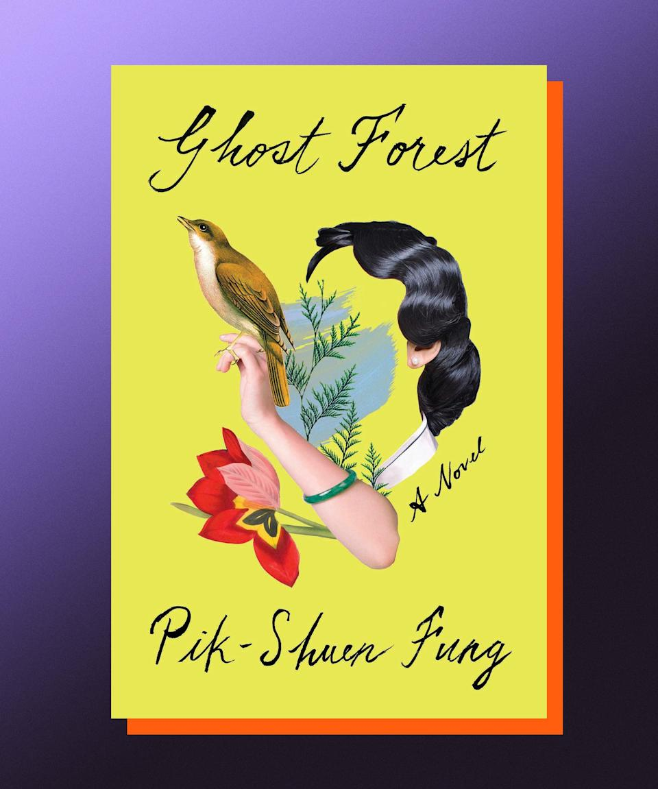 """<strong><em>Ghost Forest</em>, Pik-Shuen Fung (</strong><a href=""""https://bookshop.org/books/ghost-forest/9780593230961"""" rel=""""nofollow noopener"""" target=""""_blank"""" data-ylk=""""slk:available July 13"""" class=""""link rapid-noclick-resp""""><strong>available July 13</strong></a><strong>)</strong><br><br>An """"astronaut father"""" is one who doesn't stay in one place, but rather flies around, touching down at home only for a little while before launching back into orbit. It's a term invented in Hong Kong, meant to describe what it was like for families who were disrupted by the 1997 return of sovereignty from Great Britain to China. In Pik-Shuen Fung's spare, elegaic novel, the narrator has an astronaut father of her own, who stayed in Hong Kong after she and her mother and grandmother immigrated to Canada. When her father falls ill and the family gathers around him, it becomes clear that a person's absence sometimes defines who they are as much as their presence does. Told in shimmering fragments — a beautiful reflection of the way memories surface in the mind — <em>Ghost Forest</em> deals with the sticky stuff that makes up a life: love and loss and frustration and regret. It's never maudlin, and often funny. It is a beautiful reminder of the power of forgiveness and empathy toward those we love."""
