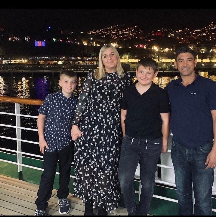 Lorna Caley-Liddle with husband Martin and sons Charlie and Harry on holiday in the summer of 2019 (Lorna Caley-Liddle)