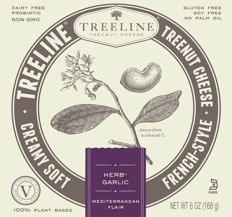 """<p><strong>Treeline</strong></p><p>treelinecheese.com</p><p><a href=""""https://www.treelinecheese.com/products/"""" rel=""""nofollow noopener"""" target=""""_blank"""" data-ylk=""""slk:Shop Now"""" class=""""link rapid-noclick-resp"""">Shop Now</a></p><p>This cashew-based vegan cheese has fancy vibes, a simple, clean ingredient list, and is loaded with garlic herb flavor. It's a great pick for vegan cheese boards and easy to spread on anything from crusty bread to veggies. </p>"""