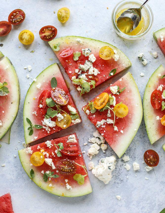 """<strong>Get the <a href=""""http://www.howsweeteats.com/2017/07/watermelon-salad-wedges-blue-cheese/"""" rel=""""nofollow noopener"""" target=""""_blank"""" data-ylk=""""slk:Watermelon Salad Wedges with Blue Cheese recipe"""" class=""""link rapid-noclick-resp"""">Watermelon Salad Wedges with Blue Cheese recipe</a>&nbsp;from How Sweet It Is</strong>"""