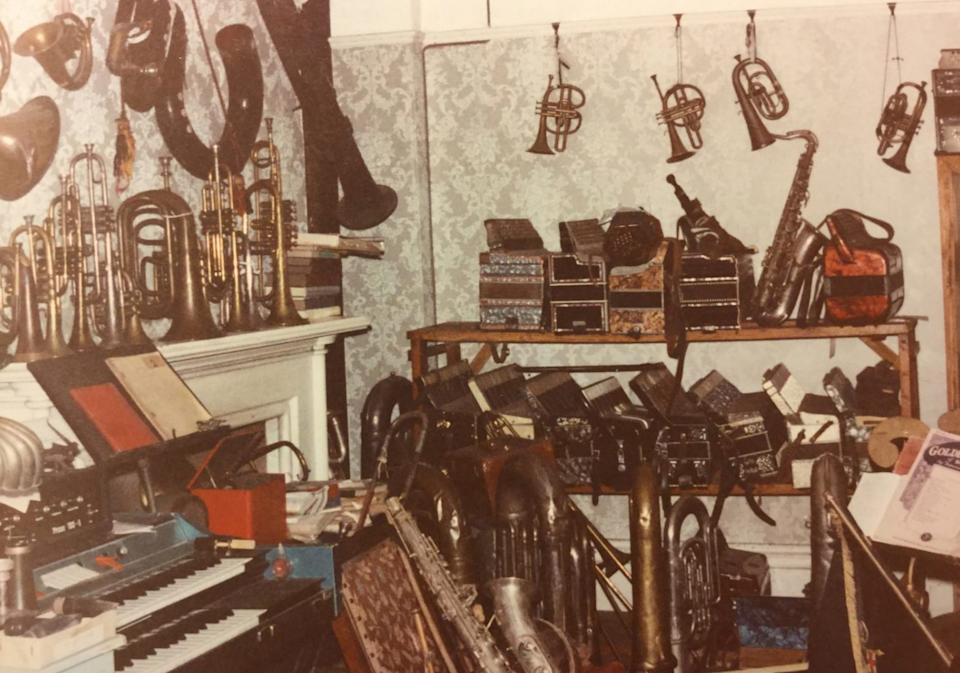 Some of Douglas Gray's musical instruments