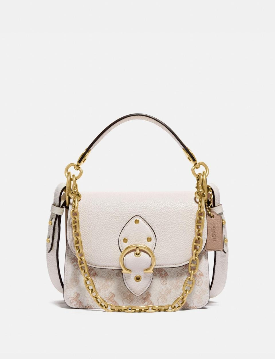 <p>The details on this <span>Coach Beat Shoulder Bag</span> ($350) are so pretty.</p>