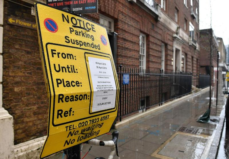 Road closures are also in place as we wait for the royal baby. Photo: Getty