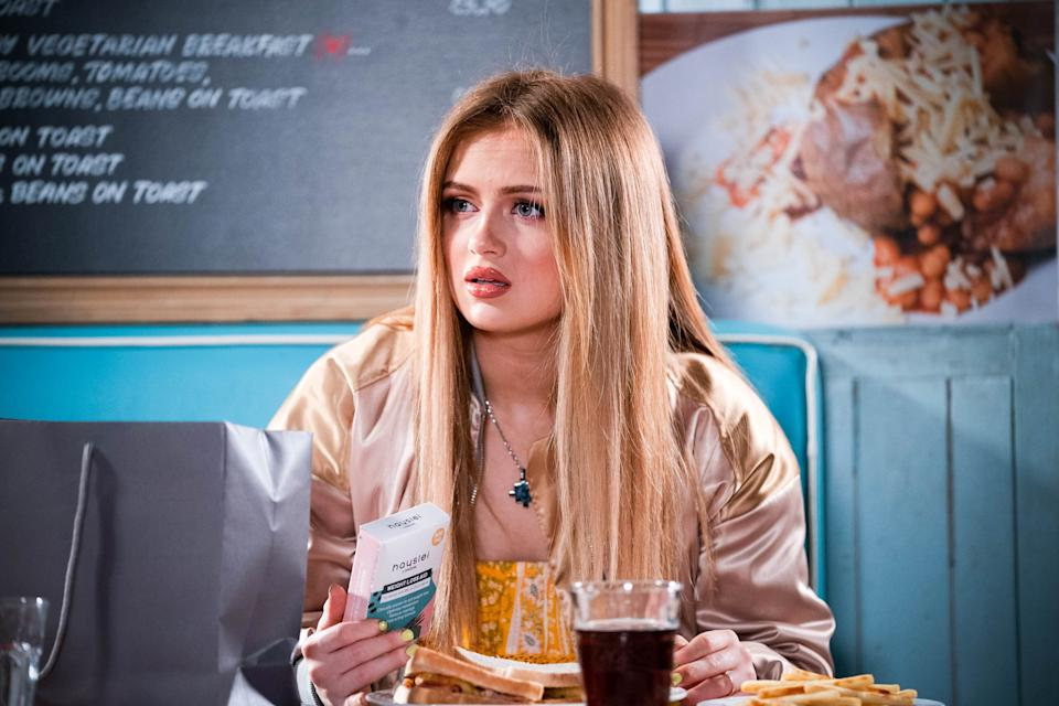 WARNING: Embargoed for publication until 00:00:01 on 08/06/2021 - Programme Name: EastEnders - April-June 2021 - TX: 18/06/2021 - Episode: EastEnders - April-June 2021- 6292 (No. 6292) - Picture Shows: ***EMBARGOED TILL TUESDAY 8TH JUNE 2021*** Tiffany Butcher (MAISIE SMITH) - (C) BBC - Photographer: Kieron McCarron/Jack Barnes