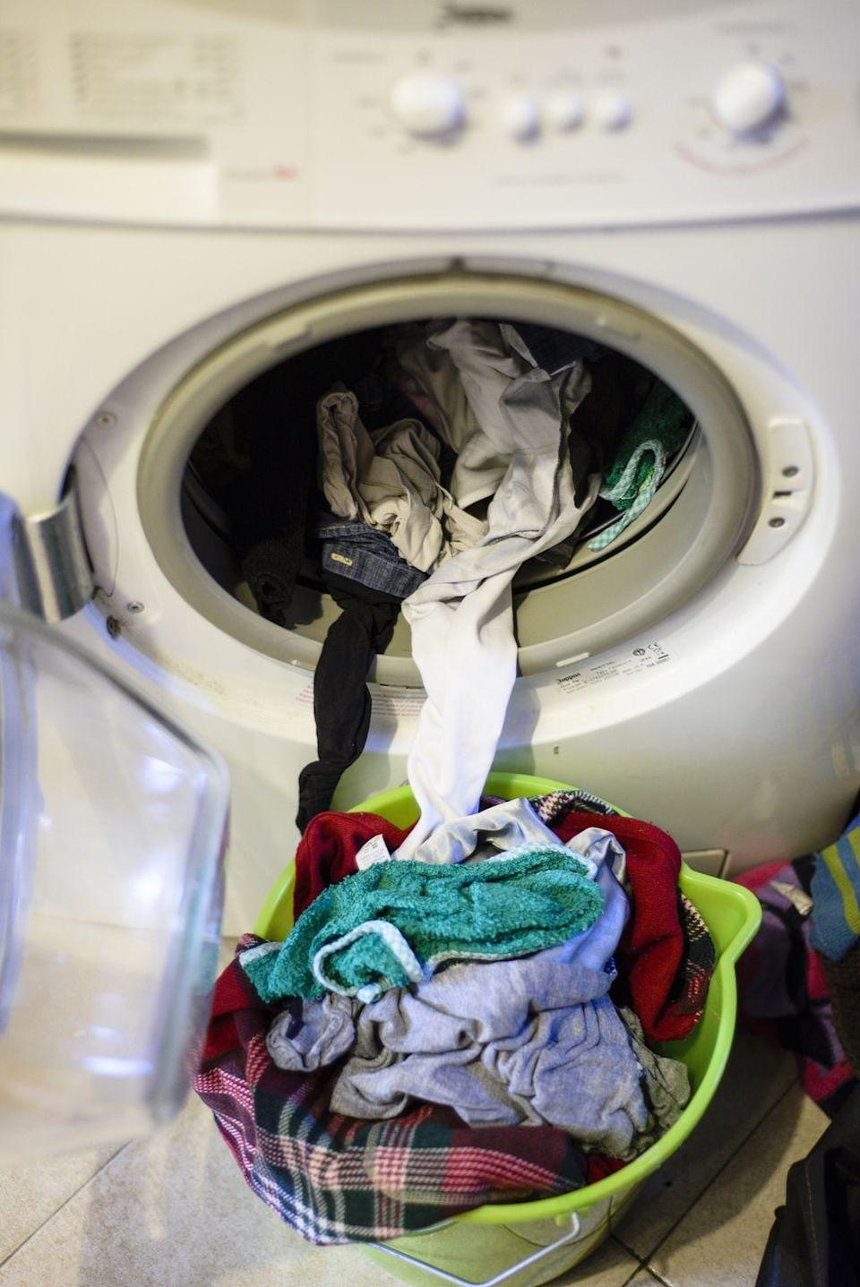 <p>It's stained, has a few holes, and you probably have a pair of pants (and okay, undies) to match. Rather than keep these items around for when you've cycled through your good clothes, make room in your closet for something a little less...lived in. </p>