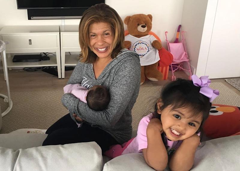 Hoda Kotb with her daughters, Hope Catherine and Haley Joy. (Image: Today show via Instagram)