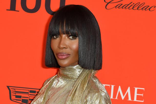 British model Naomi Campbell showed off a razor-sharp bob at the Time 100 Gala in April.