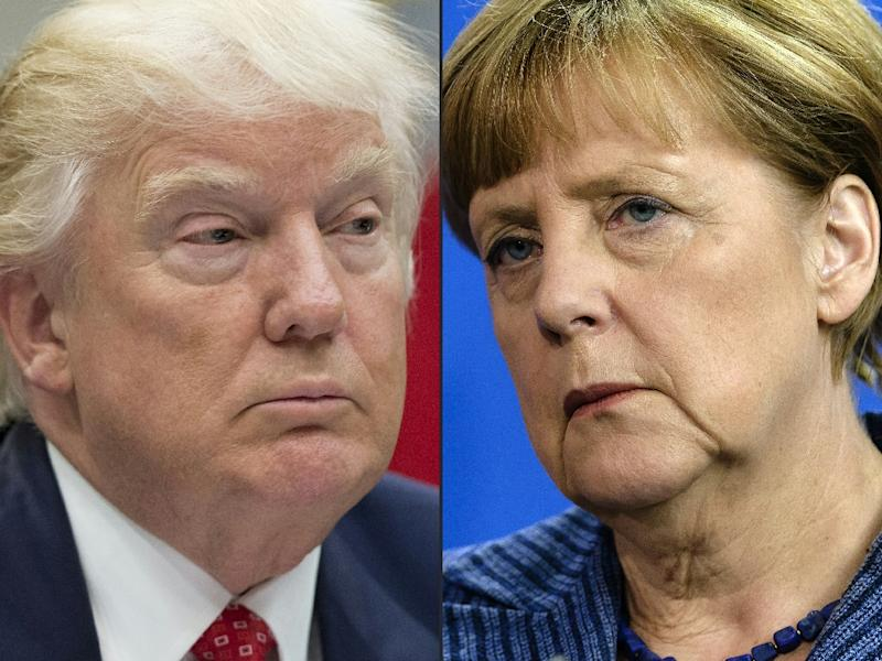 President Donald Trump and German Chancellor Angela Merkel meet in the Oval Office hoping to narrow differences on NATO, Russia, global trade and a host of other issues